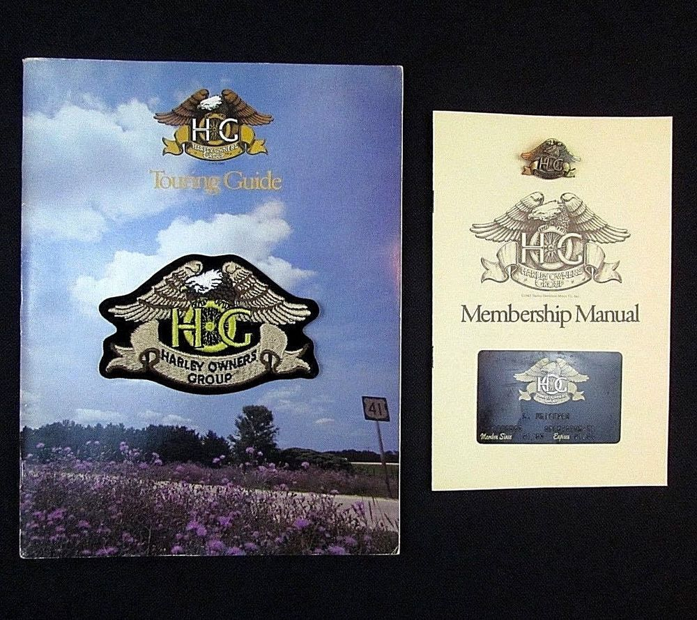 1983 harley owners group lot inaugural year patch manual touring rh pinterest com Harley Motorcycles Harley Owners Group Screensavers