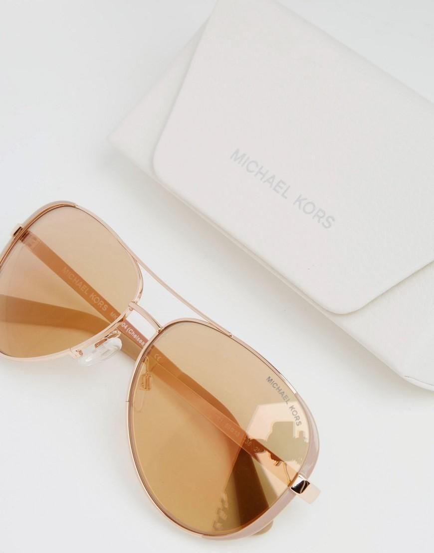 b57337b41 Michael Kors | Michael Kors Chelsea Aviator in Rose Gold at ASOS ...