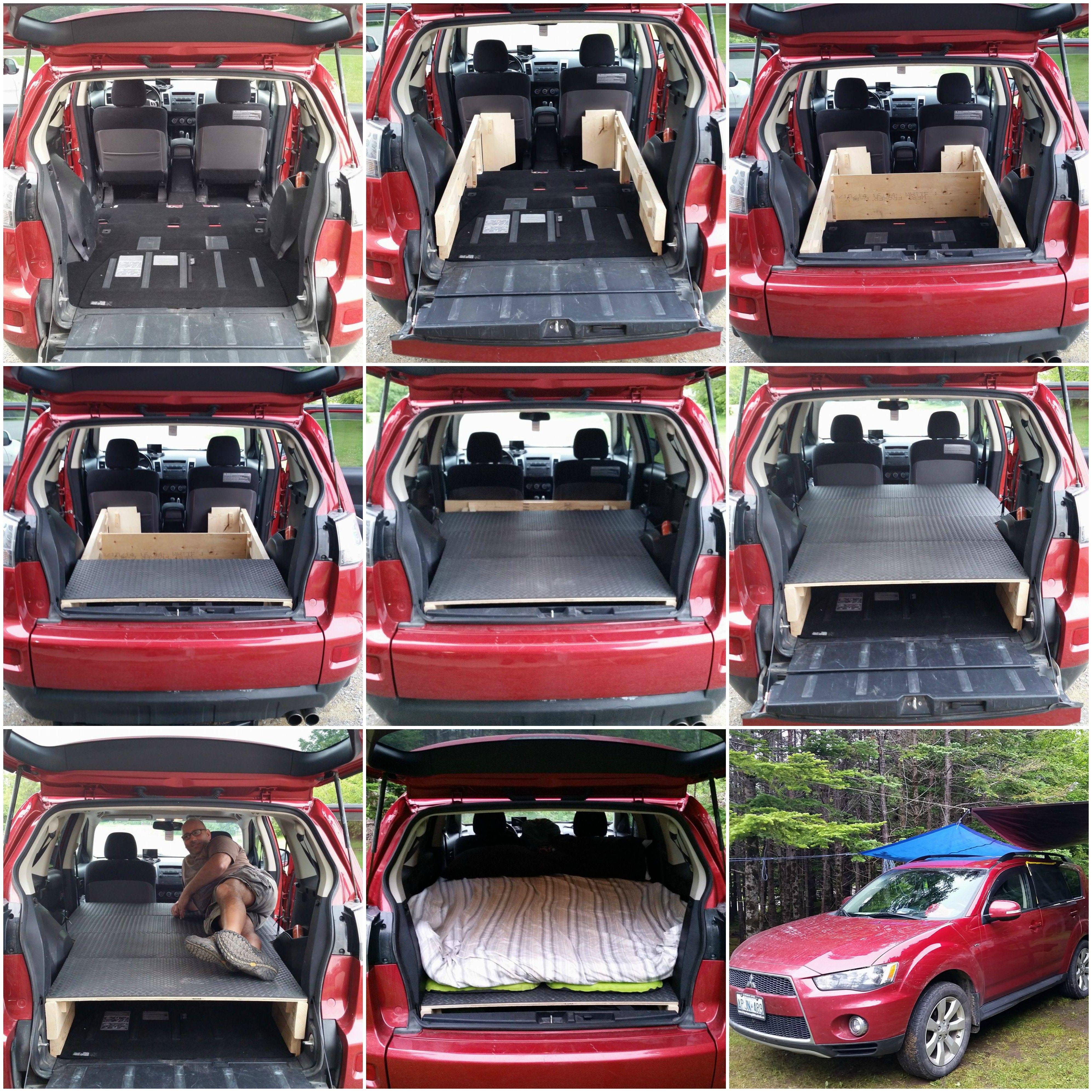 Suv Camping In Our Mitsubishi Outlander Camping Suv