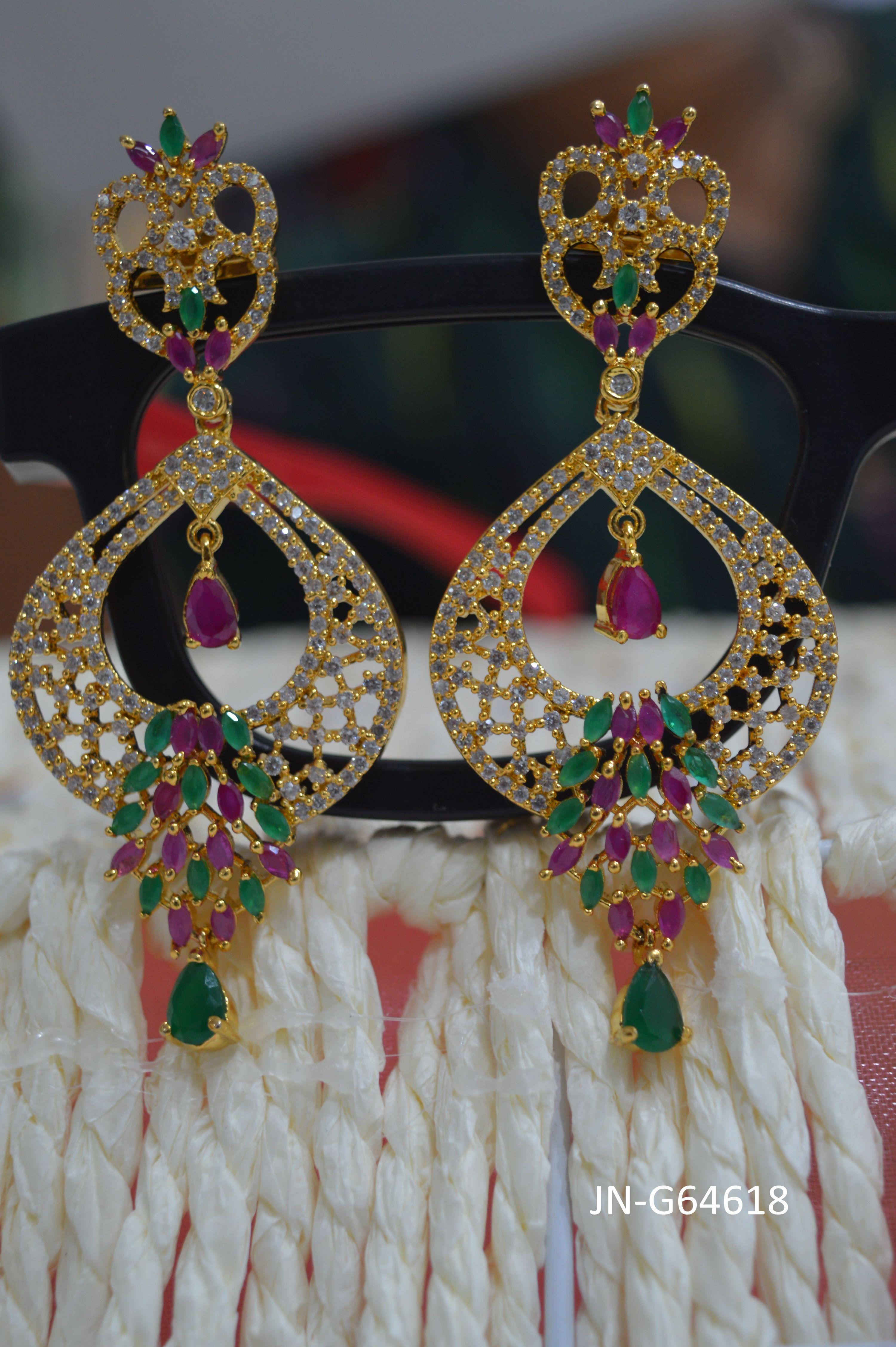 1 Gram CZs Earrings Buy online at http