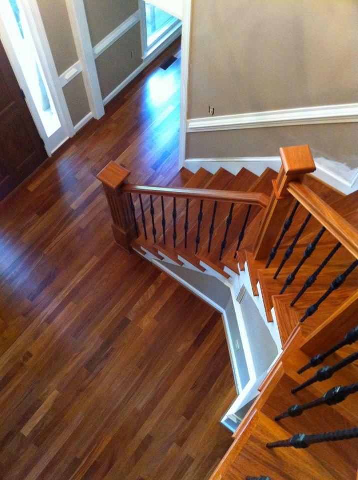3 Cumaru Brazilian Teak Hardwood Floors Installing Hardwood Floors Staircase Contemporary