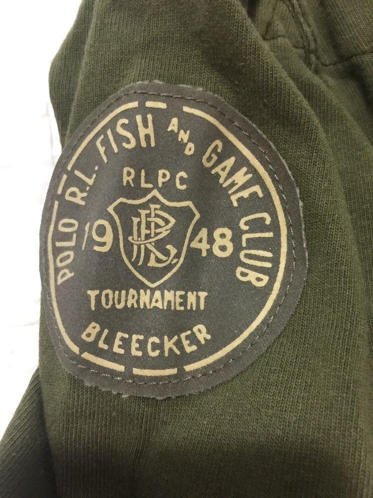 c808b6582b2fc Polo Ralph Lauren RLPC Mens Rugby Sweater Fish Game Club 1948 Bleecker M  Patch