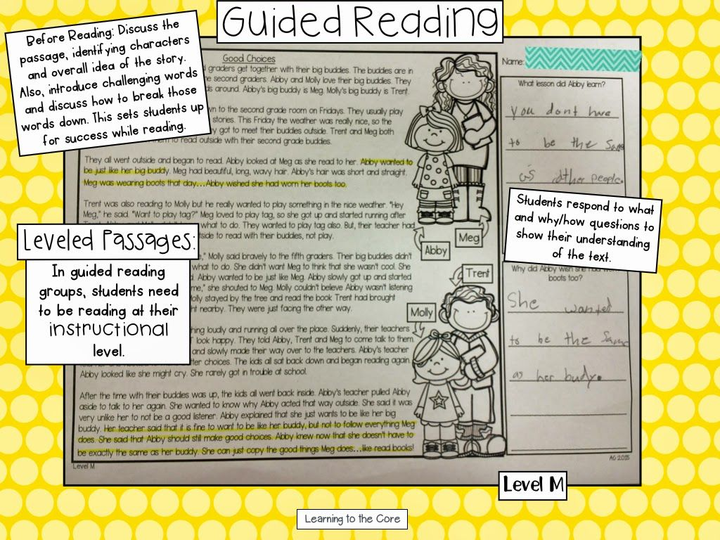 Guided Reading Goo S Leveled Passages F Amp P Level A M With Comprehension Questions Lesson