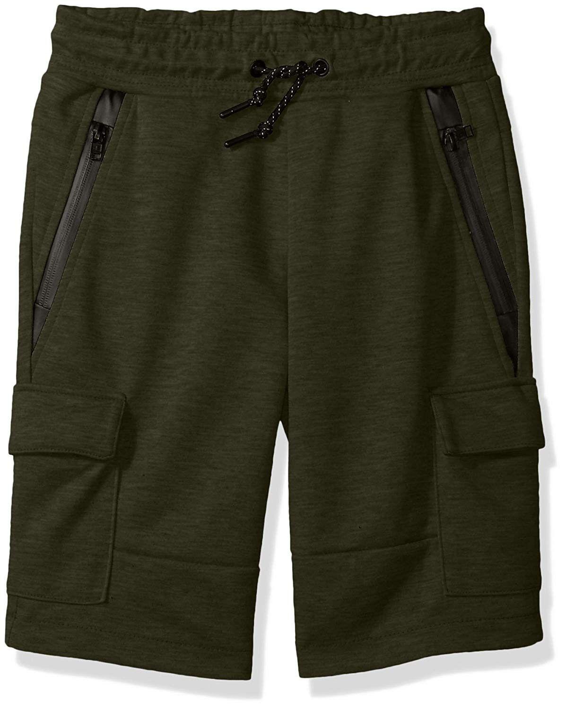 Boys Tech Fleece Shorts with Cargo Pockets in Solid Color