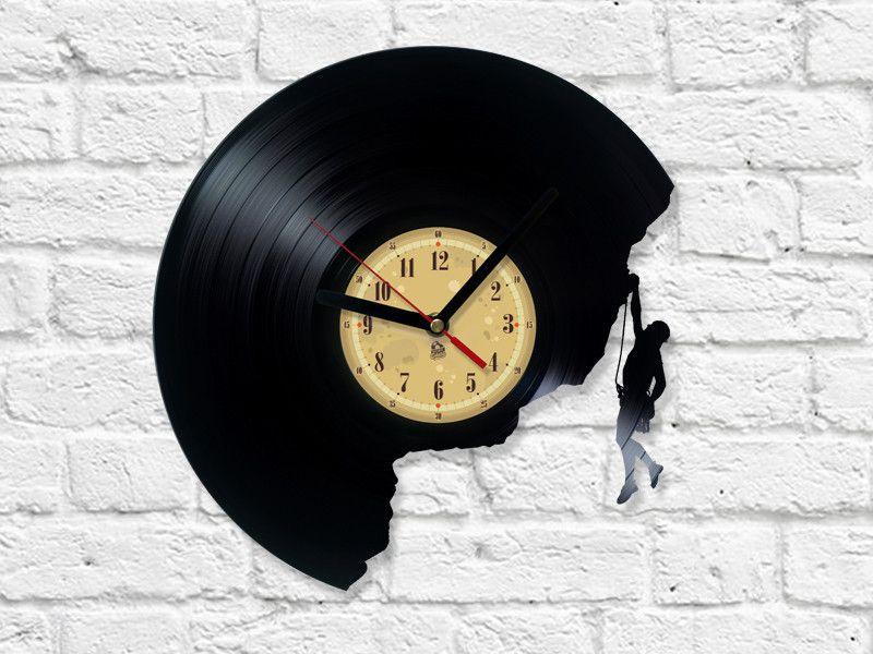 Kletter Vinyl-Schallplatte Uhr | Vinyl schallplatten, Schallplatte ...