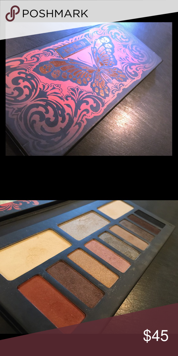 Kat Von D Monarch butterfly palette eyeshadow Great palette I bought it and never use it. Used it maybe twice and hen just used it for the mirror . I saw it was discontinued so thought maybe I could sell it to a die hard fan instead of just letting it sit around going to waste :) Kat Von D Makeup Eyeshadow