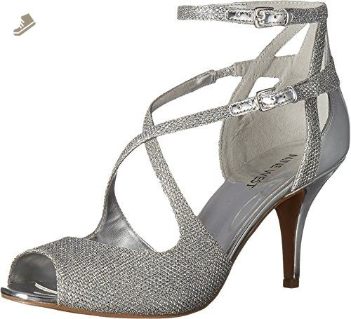 Nine West Women S Ovidia Silver Silver Fabric Pump 6 M Nine West Pumps For Women Amazon Partner Link With Images Ankle Strap Pumps Silver Fabric