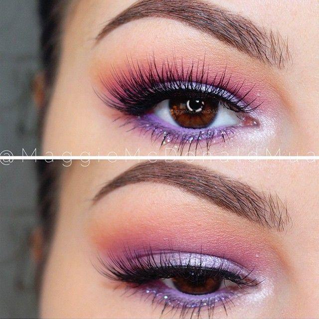 Purple And Pink Eye Makeup