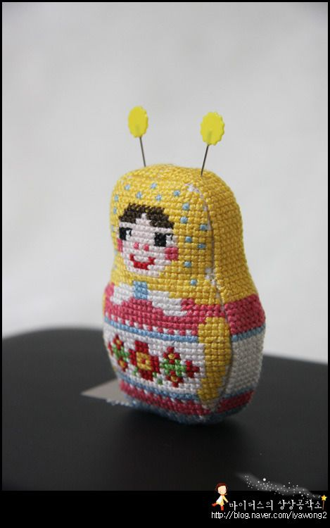 atelier idealite: Cross stich - Matryoshka!!