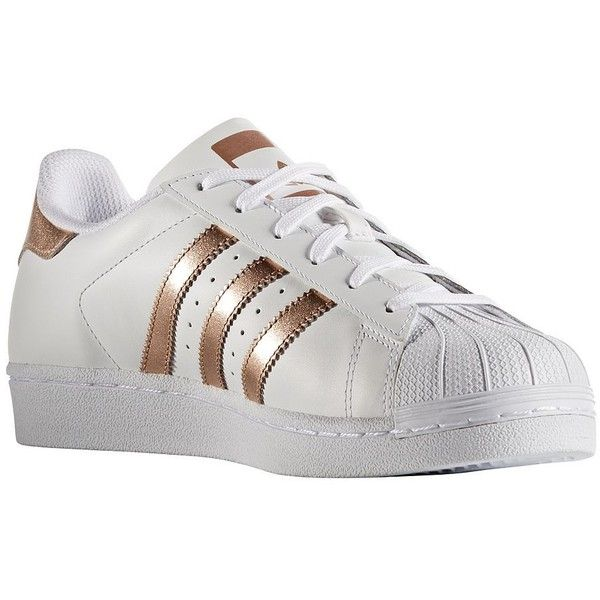 86998bf67f71 Adidas Women s Superstar Leather Sneakers (105 CAD) ❤ liked on Polyvore  featuring shoes