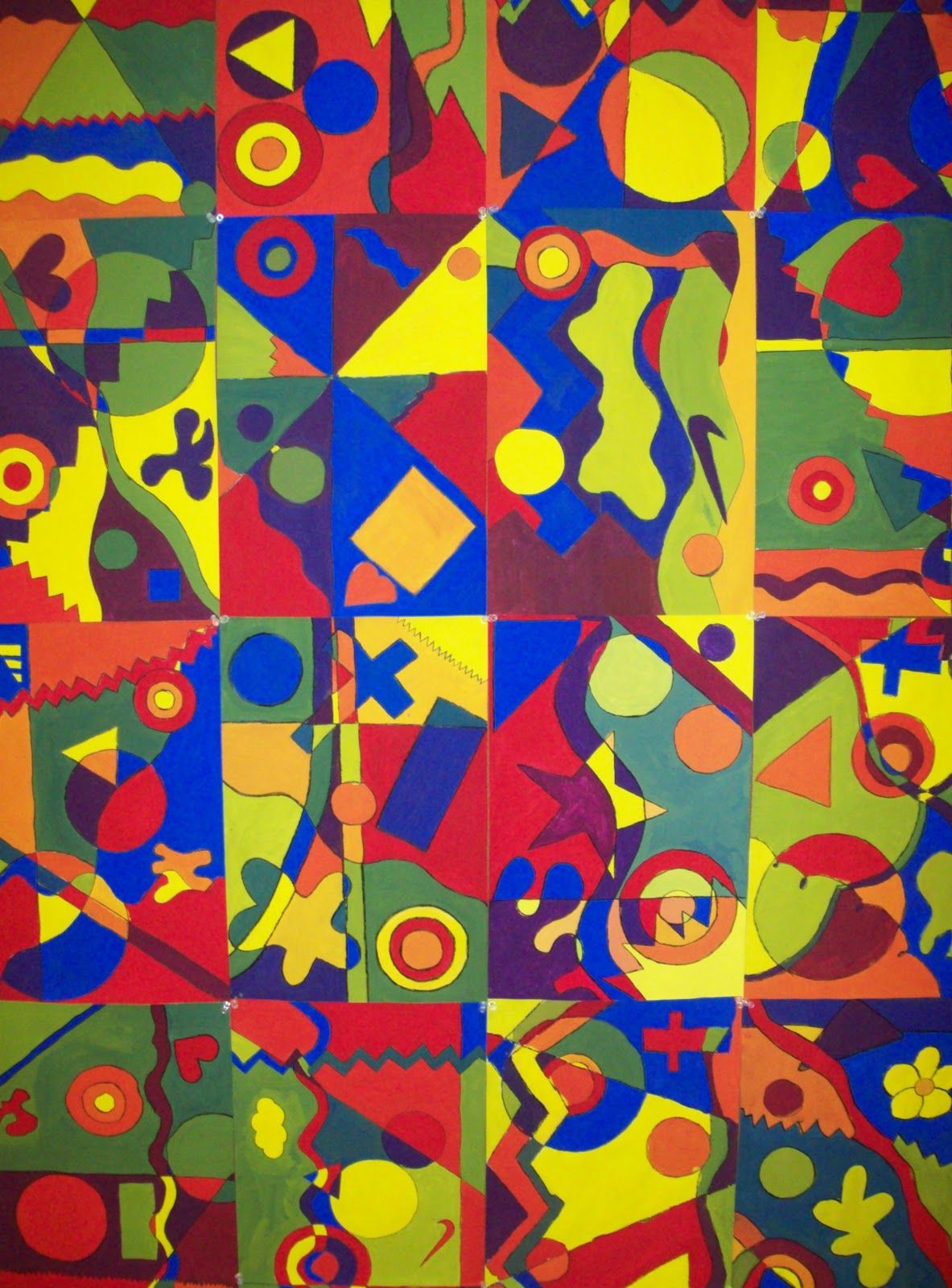 Examples Of Organic Shapes In Art Painting