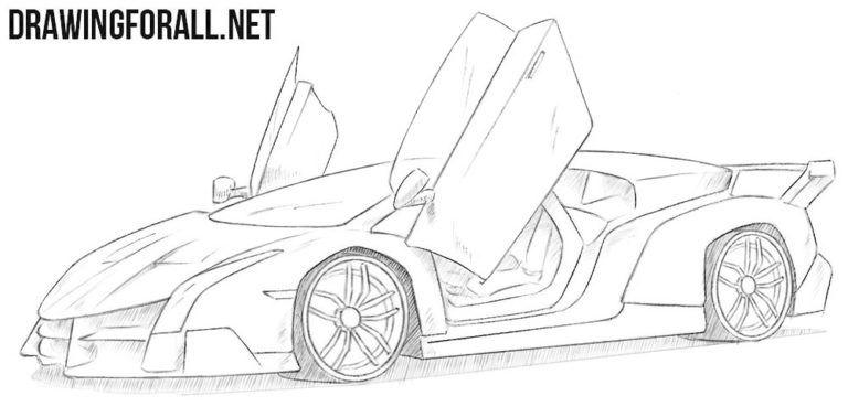 How To Draw A Lamborghini Veneno Lamborghini Veneno Lamborghini