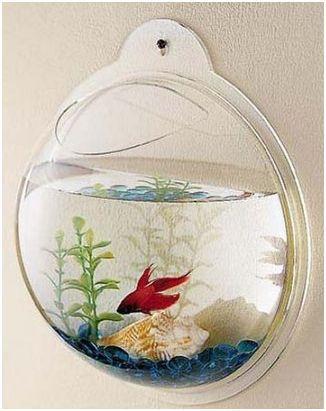 Fish & Aquariums Desktop Aquarium Or Wall Mounted Fish Aquarium Selected Material Friendly Modern Betta Fish Bowl White Pet Supplies