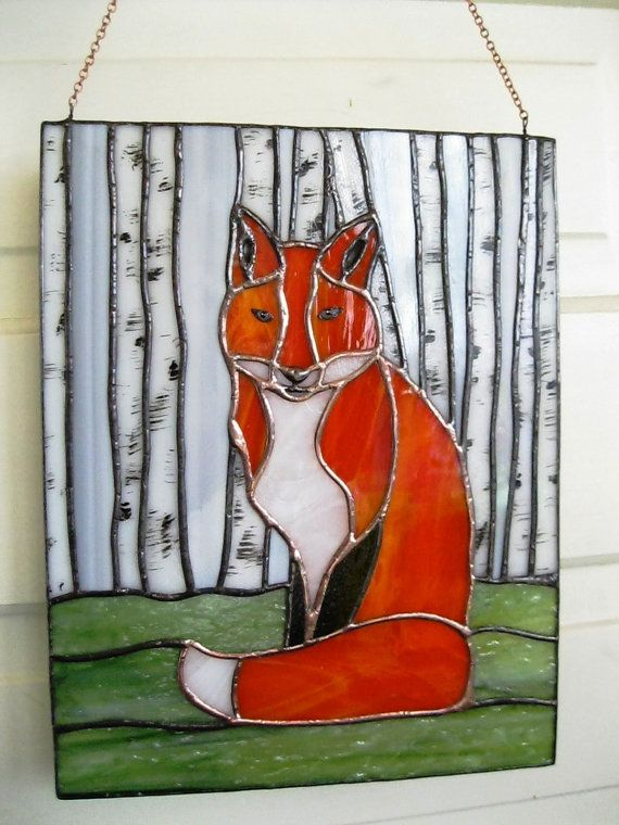 Fantastic Mr Fox Stained Glass Panel Sun Catcher