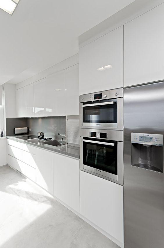 white glossy kitchen | Cocinas en 2018 | Cocinas, Cocinas modernas y ...