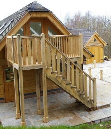 Oak Staircase External Venables Brothers Timber Staircases Outside Pint