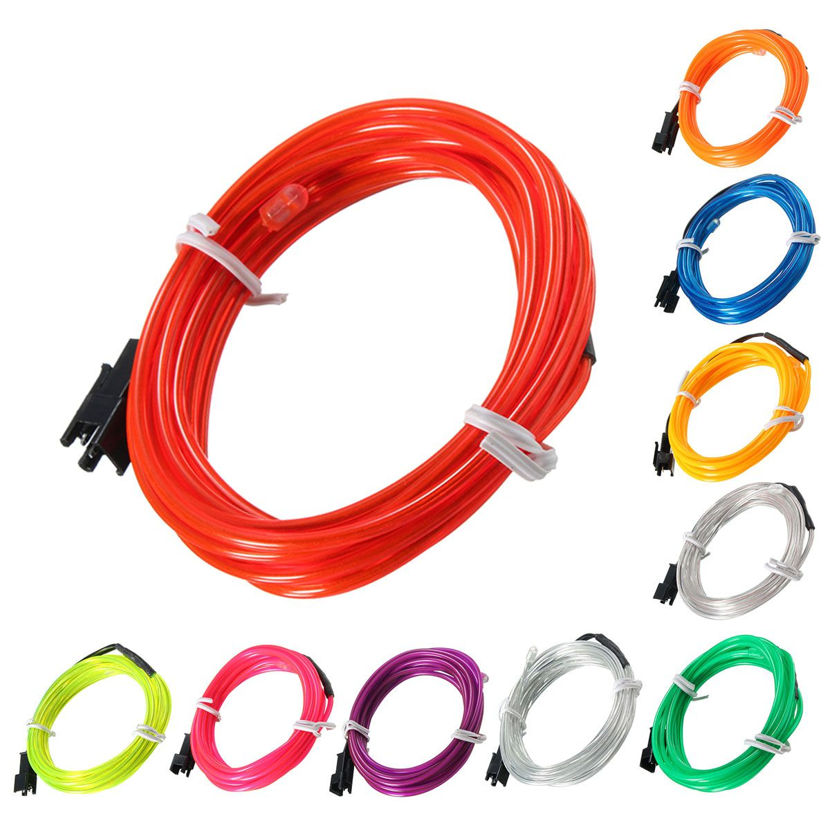 2m El Led Flexible Soft Tube Wire Neon Glow Car Rope Strip Light Xmas Decor Dc 12v Strip Lighting Neon Glow Neon