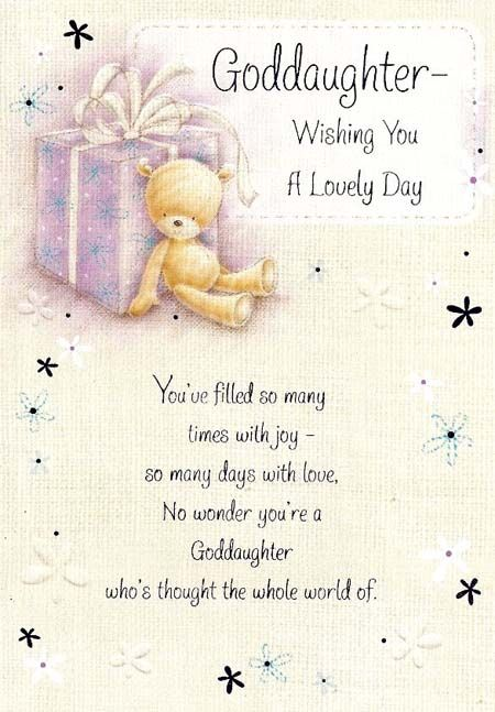 Happy Birthday Wishes For God Daughters Goddaughter Birthday Cards