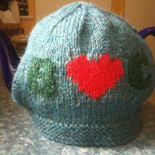 Initials knit tea cosy
