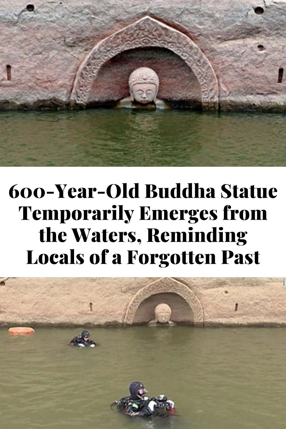 600 Year Old Buddha Statue Temporarily Emerges From The Waters Reminding Locals Of In 2020 Diy Projects To Make And Sell Arts And Crafts For Kids Cute Disney Drawings