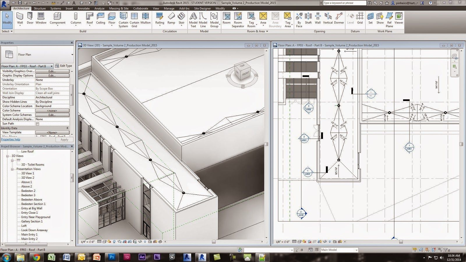 Revit Tutorial Flat Roof Crickets And Documentation Therevitkid Com Tutorials Tips Products And Informati Revit Tutorial Flat Roof Revit Architecture