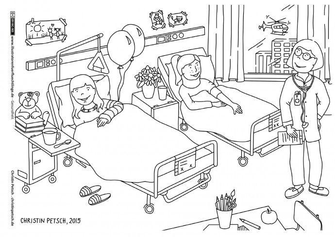 Gesundheit - Krankenhaus Krankenzimmer - Petsch | nemčina ...