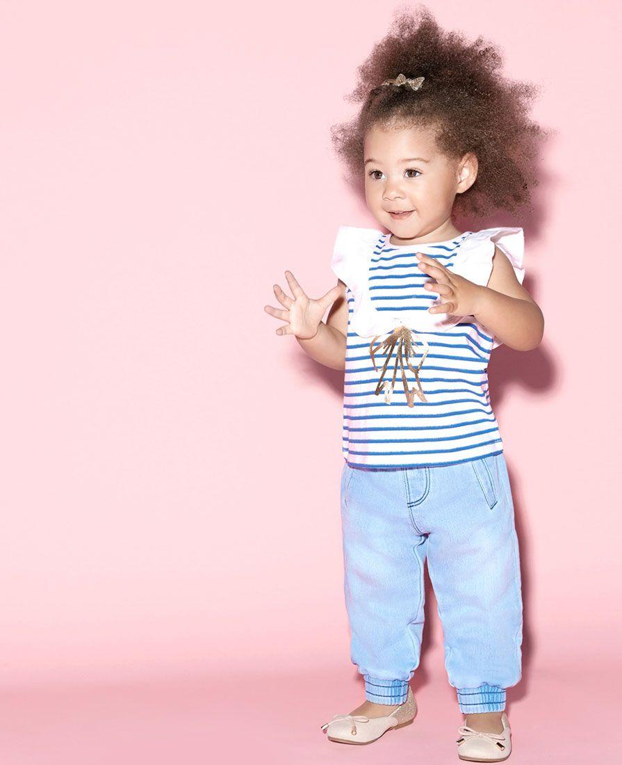 Baby Girl's Marie Bow Tee - Bardot Junior