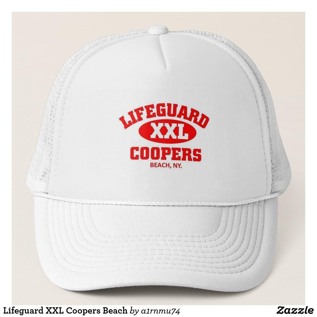 Lifeguard XXL Coopers Beach Trucker Hat   Zazzle com   Caps