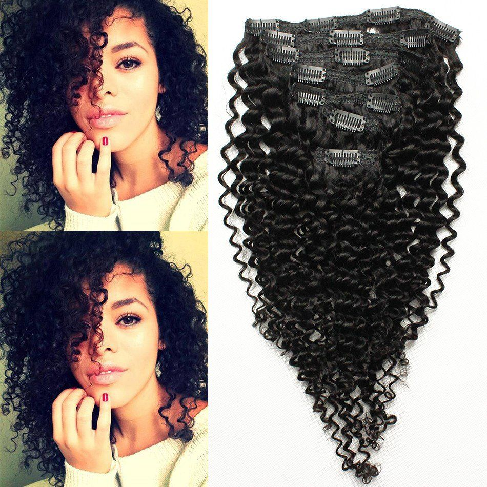 Clip In Extensions Afro Kinky Curly Clips In Human Hair Natural