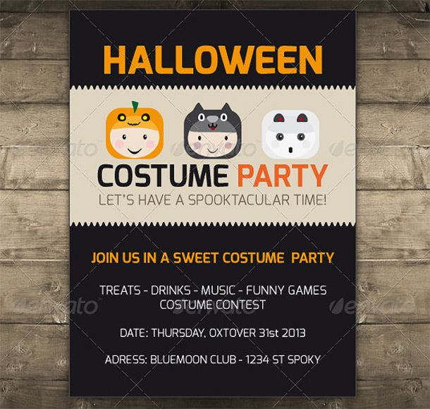15 Cool Halloween Flyers 9 graphic design Pinterest - halloween party flyer