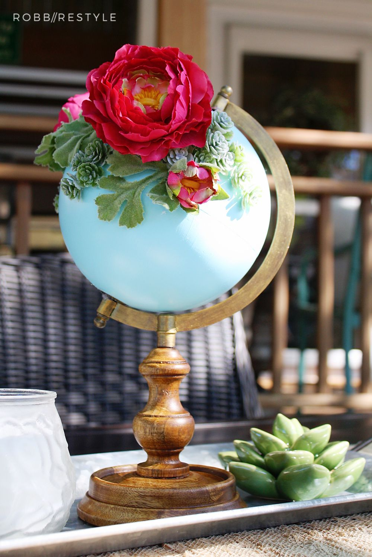 DIY Flower Garden Globe | Robb Restyle. Lavori Di BricolageGlobi ...