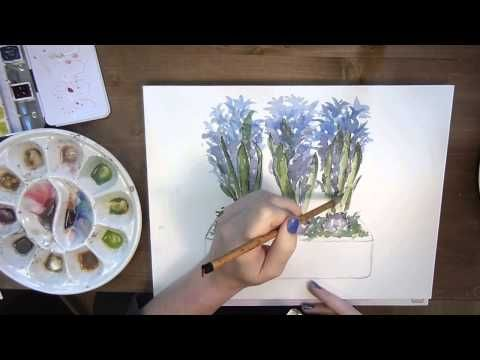 Video Demo Aquarelle Jacinthes Watercolor L Atelier De