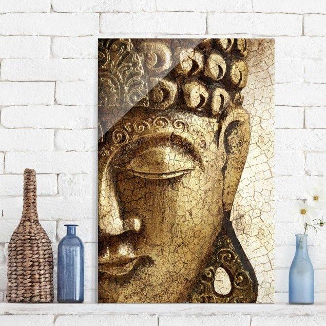 Glasbild Buddha Vintage Buddha Buddha Bild Hoch 3 2