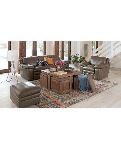 Furniture Champagne Cube Coffee Table with 4 Storage ...