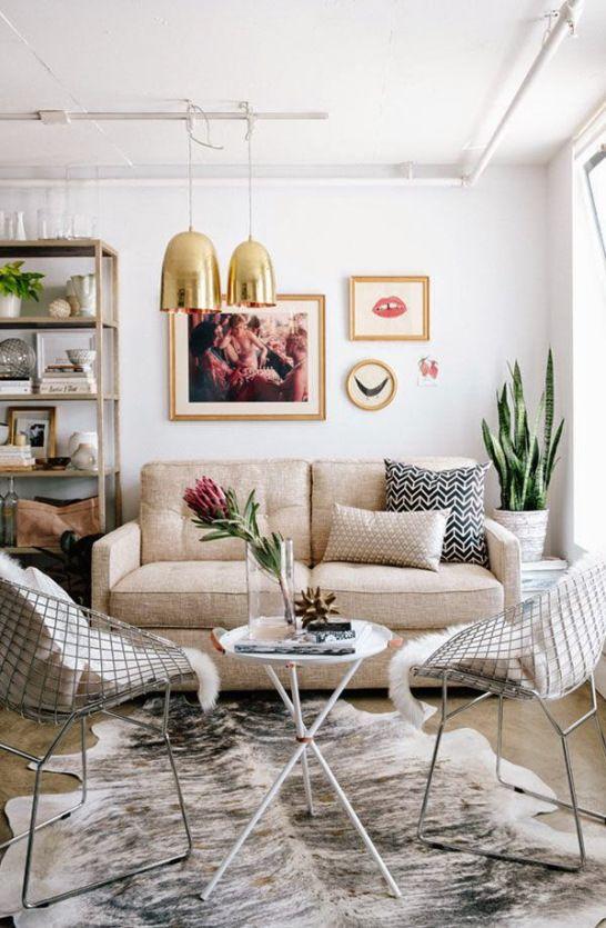 De 101 Ideas De Decoración De Salas Pequeñas Modernasfotos Impressive Design Ideas For A Small Living Room 2018