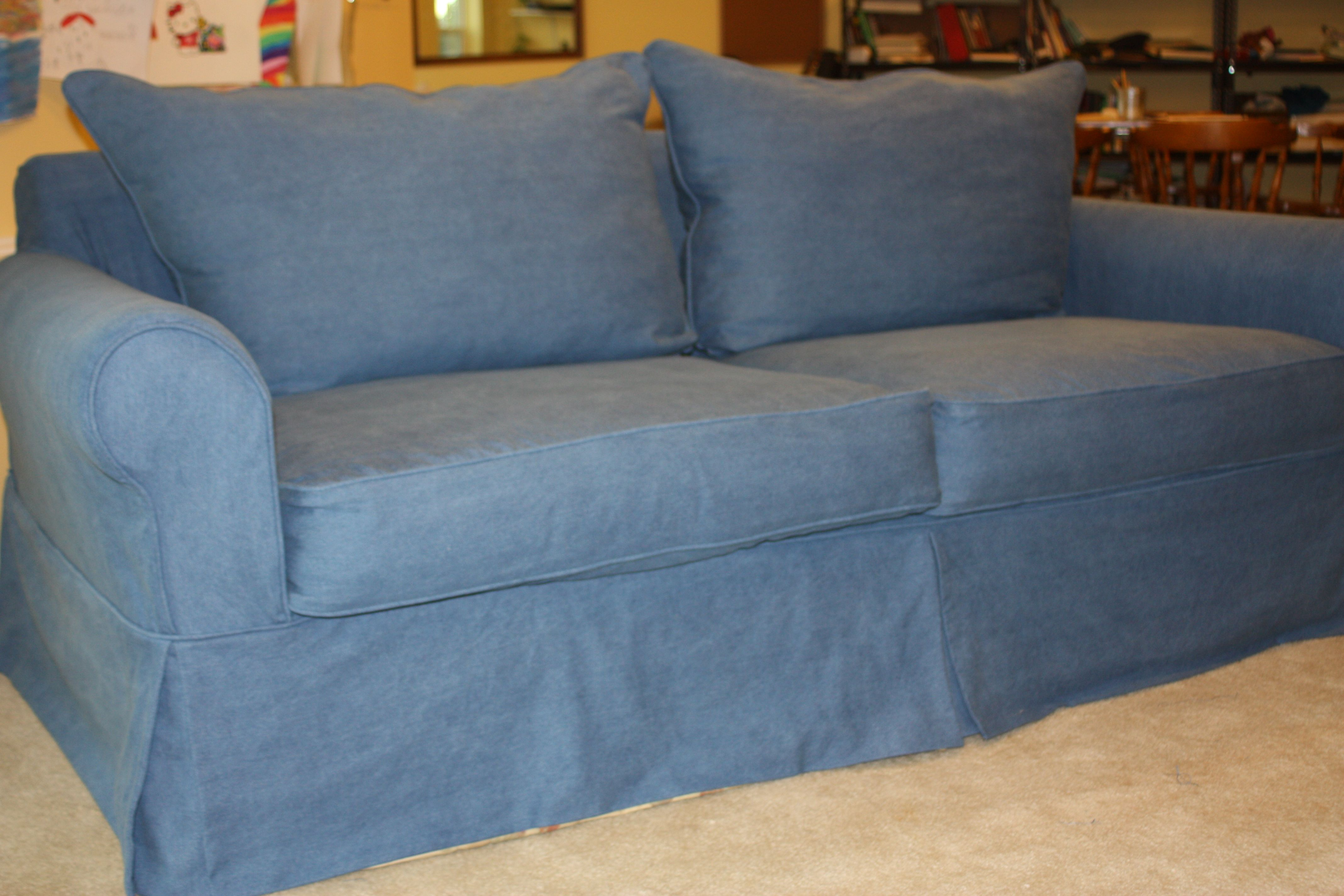 blue jean stain on sofa soft leather sofas uk denim slipcover from twill studio