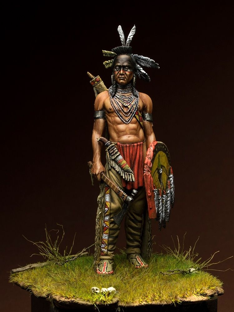 Figurine Far West  Figurine Indien Sitting Bull 1//32