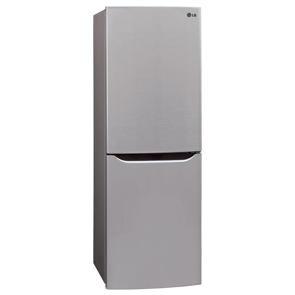 Lg Electronics 10 Cu Ft Bottom Freezer Refrigerator In Platinum Lbn10551ps The Home Depot Bottom Freezer Bottom Freezer Refrigerator Refrigerator