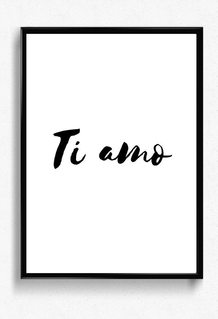Ti Amo Print Italian I Love You Printable Poster Love Quote