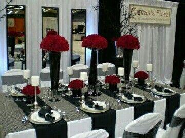 Black White Red Wedding Theme | Wedding Ideas | Pinterest | Red ...