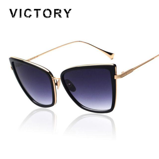 dc0daec280 2016 Newest Arrival Oversized Sunglasses Women Fashion Cat Eye Sunglasses  Vintage Brand Designer Hipster Sun Glasses Points
