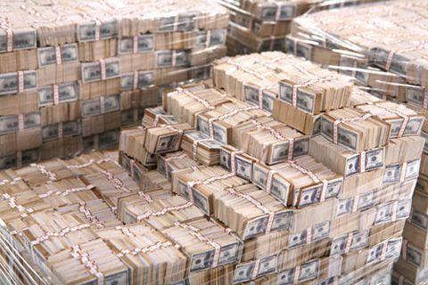 One Billion Dollar Art Project Money Stacks Money Cash Money