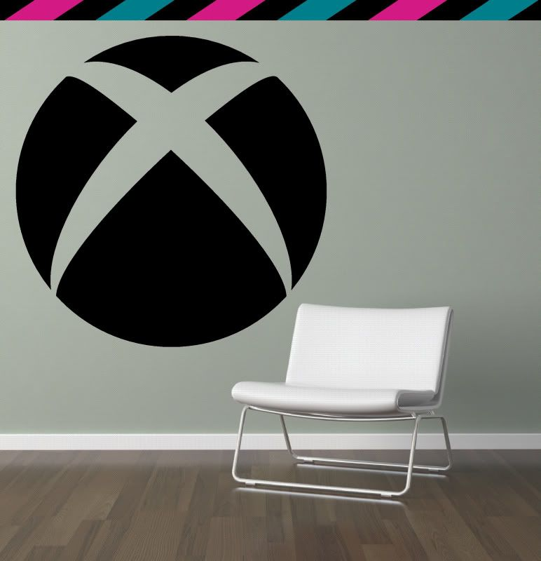 xbox 360 circle videogame console halo wall decal | sons room