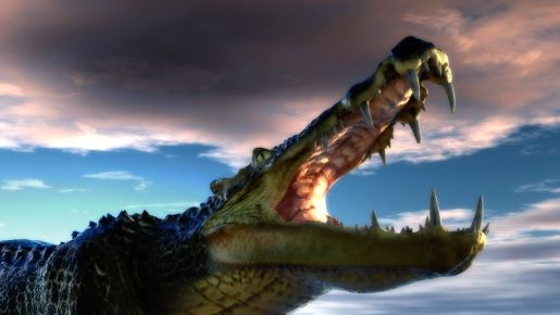 Big Tooth Crocodiles Prehistoric Prehistoric Animals