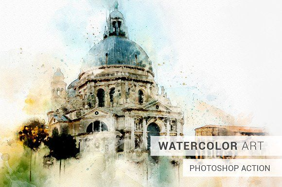 Watercolor Photoshop Action With Images Watercolor Photoshop