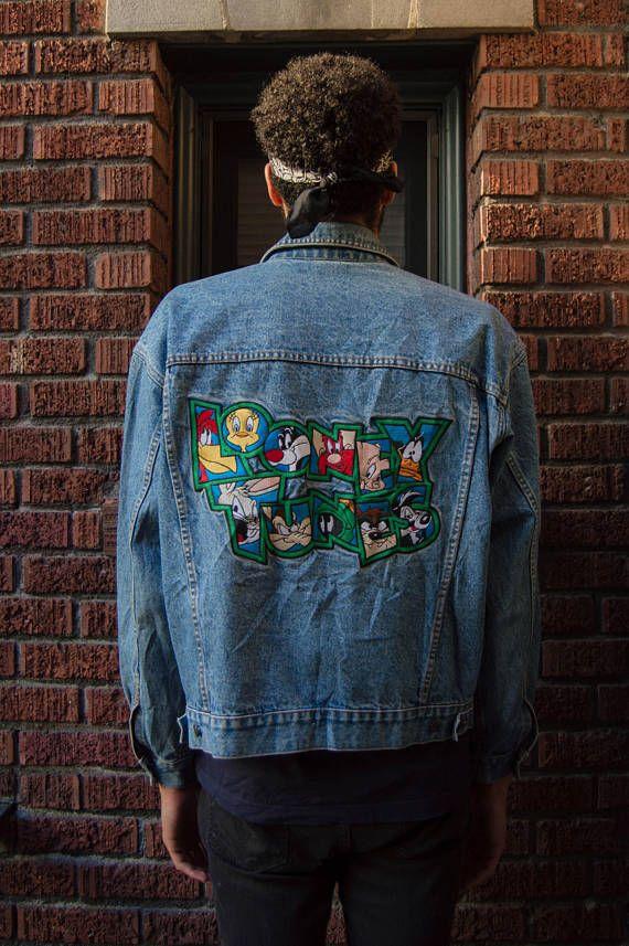 934d67b248 Looney Tunes Denim Jacket Warner Bros Studio Size  Large