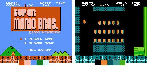 Color Palettes from Super Mario Bros  | Game Hatter | Games, Retro