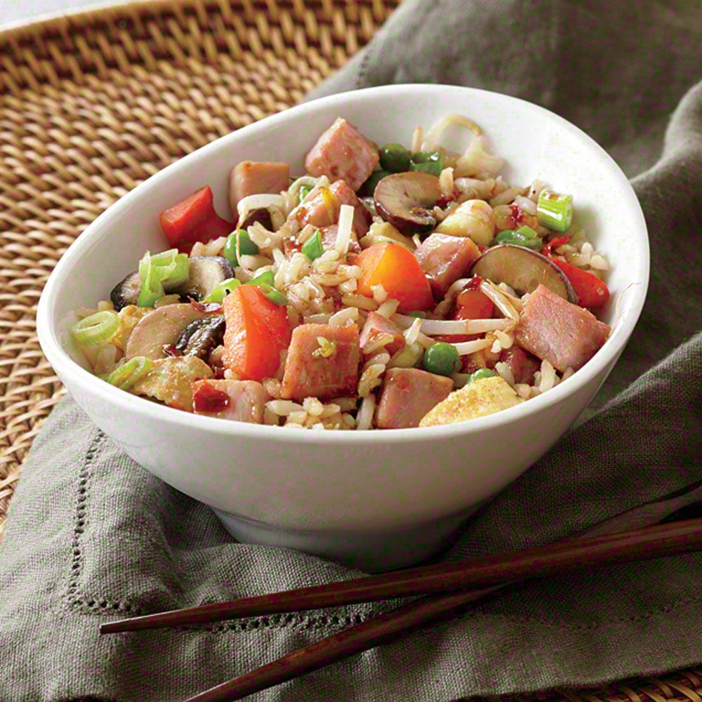 Ham and Veggie Fried Rice - Quick and Easy Pork Recipes - Cooking Light