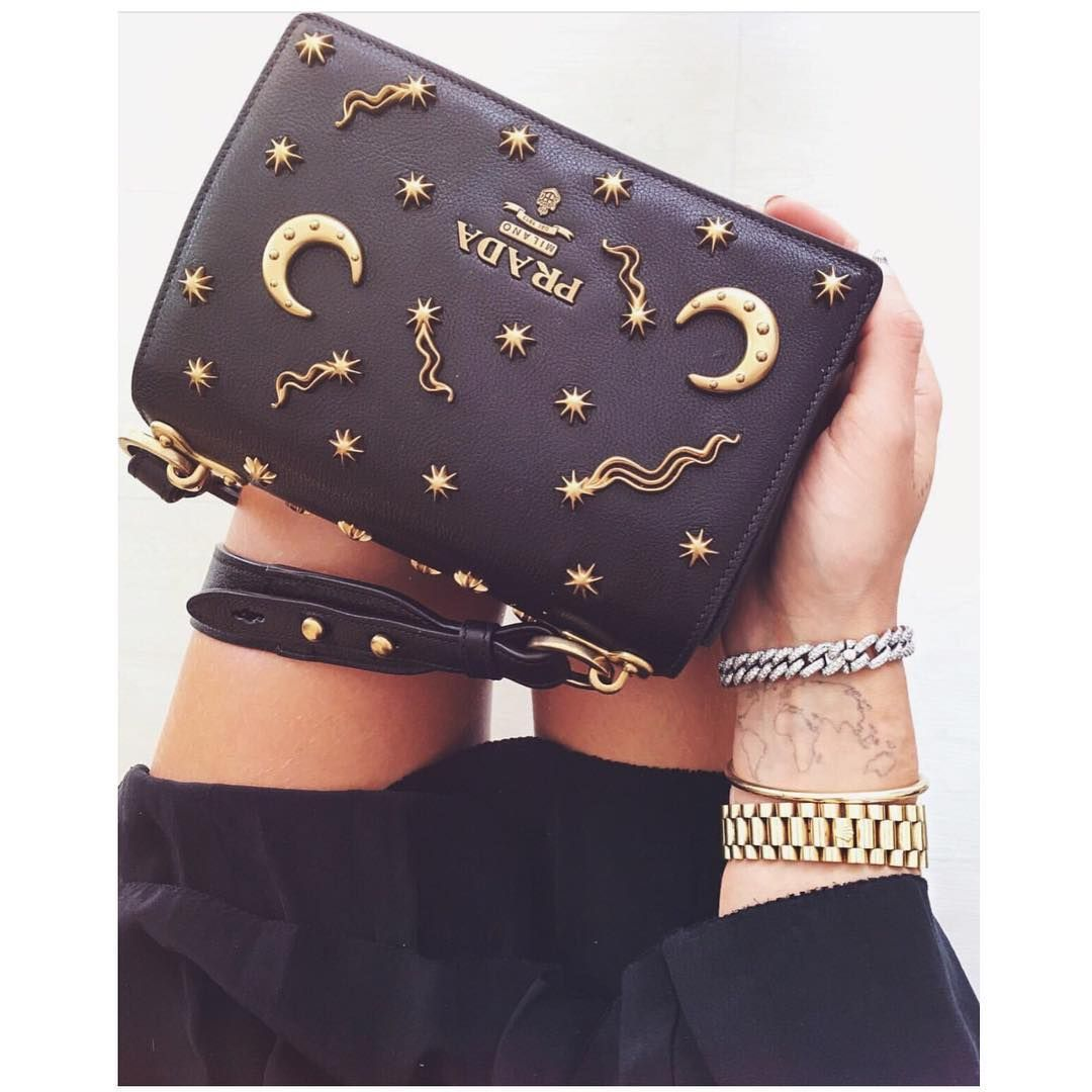 2751639ef5 prada  pirate  bag  black  gold  moon  stars