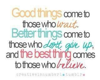 Good Things...
